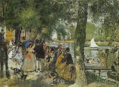 La Grenouillere, 1869 | Renoir| Painting Reproduction
