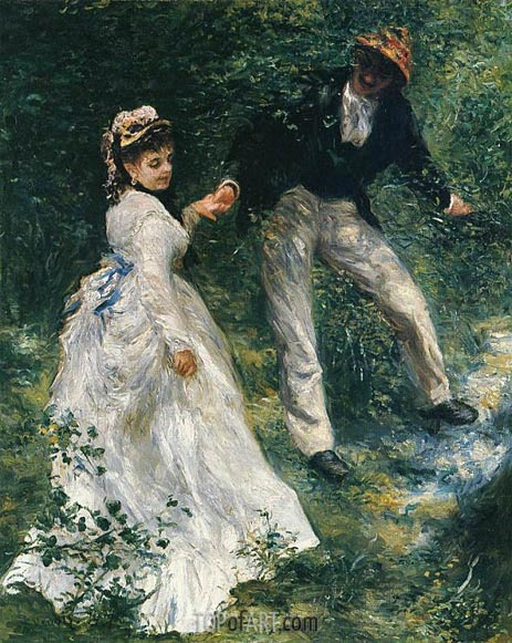 The Promenade, 1870 | Renoir| Painting Reproduction