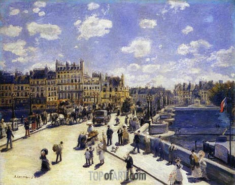 Le Pont-Neuf, Paris, 1872 | Renoir| Painting Reproduction