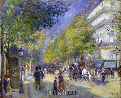 The Boulevards of Paris, 1875 | Renoir | Painting Reproduction