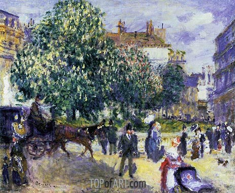 Place de la Trinite, Paris, 1875 | Renoir| Painting Reproduction