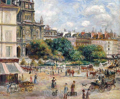 Place de la Trinite, Paris, 1875 | Renoir | Gemälde Reproduktion