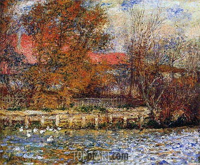 The Duck Pond, 1873 | Renoir | Painting Reproduction