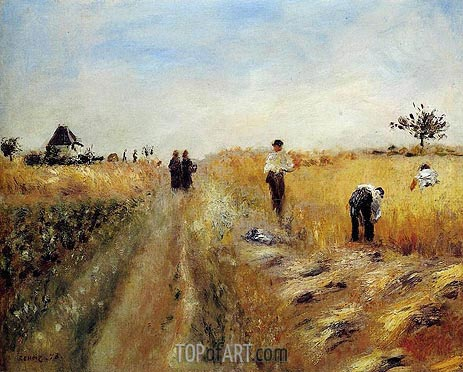 The Harvesters, 1873 | Renoir | Gemälde Reproduktion