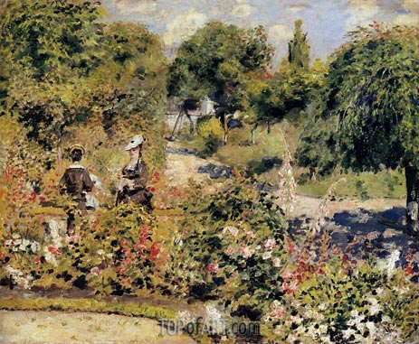 The Garden at Fontenay, 1874 | Renoir| Painting Reproduction