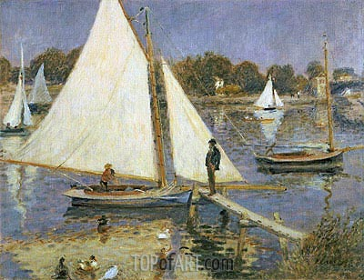 The Seine at Argenteuil (Sailboats at Argenteuil), c.1873/74 | Renoir | Painting Reproduction
