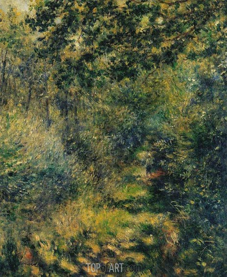 Path in the Forest, c.1874 | Renoir | Gemälde Reproduktion