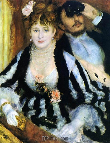 The Box at the Opera (La Loge), 1874 | Renoir| Painting Reproduction
