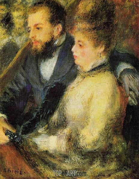 Box at the Theatre, c.1873 | Renoir | Painting Reproduction
