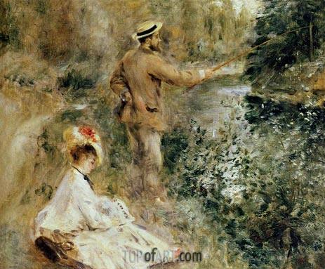 The Fisherman, 1874 | Renoir | Gemälde Reproduktion