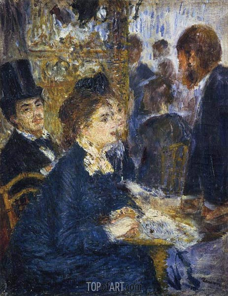 At the Cafe, c.1877 | Renoir| Painting Reproduction