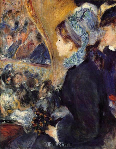 La Premiere Sortie (At the Theatre), c.1876/77 | Renoir | Gemälde Reproduktion