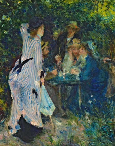 Under the Arbour at the Moulin de la Galette, c.1875 | Renoir | Gemälde Reproduktion