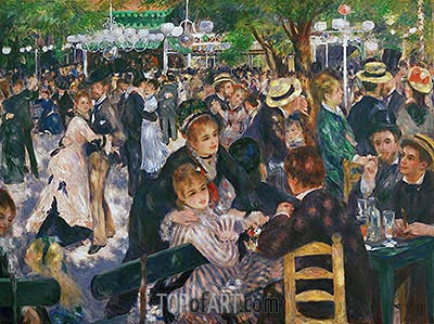 Dance at the Moulin de la Galette, 1876 | Renoir| Gemälde Reproduktion
