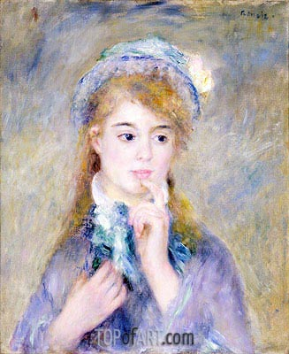 The Ingenue, c.1876 | Renoir | Painting Reproduction