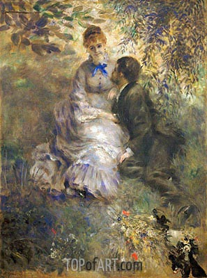 The Lovers, c.1875 | Renoir | Painting Reproduction
