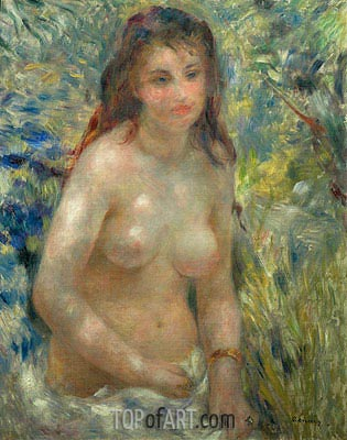 Nude Torso in the Sunlight (Torso of Anna), c.1875/76 | Renoir | Painting Reproduction