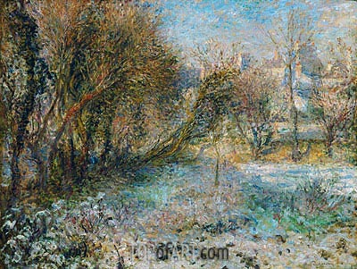 Snowy Landscape, c.1875 | Renoir | Painting Reproduction