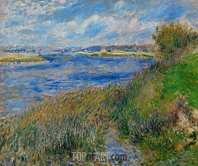 The Banks of the Seine at Champrosay, 1876 | Renoir | Gemälde Reproduktion