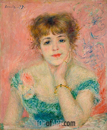 Bust of Jeanne Samary (Day-Dreaming), 1877 | Renoir | Gemälde Reproduktion