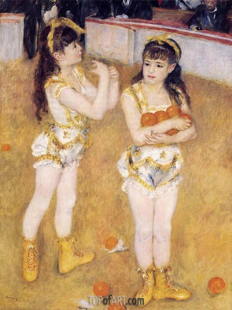 Acrobats at the Cirque Fernando, 1879 | Renoir| Painting Reproduction