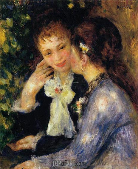 Confidences (Two Best Friends), 1878 | Renoir | Painting Reproduction