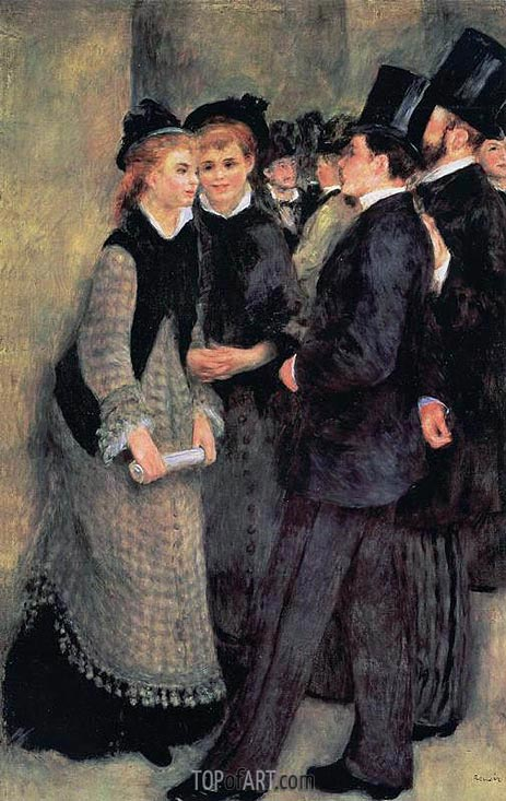 Leaving the Conservatoire, 1877 | Renoir| Painting Reproduction