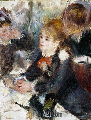 At the Milliner's, c.1878 | Renoir| Gemälde Reproduktion