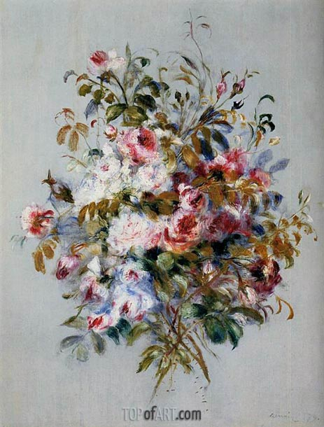 A Bouquet of Roses, 1879 | Renoir| Painting Reproduction