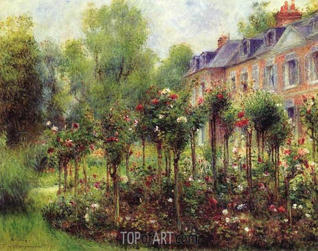 The Rose Garden at Wargemont, 1879 | Renoir | Gemälde Reproduktion