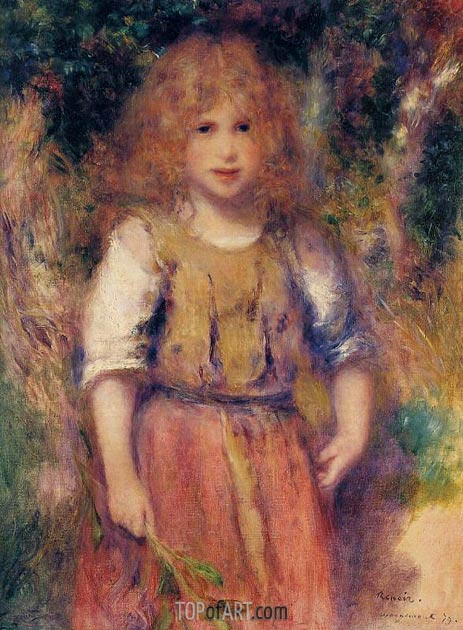 Gypsy Girl, 1879 | Renoir| Painting Reproduction