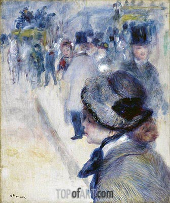 Place Clichy, c.1880 | Renoir | Painting Reproduction
