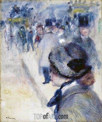 Place Clichy, c.1880 | Renoir | Gemälde Reproduktion