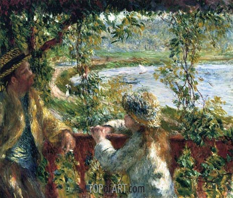 Near the Lake, c.1879 | Renoir | Painting Reproduction