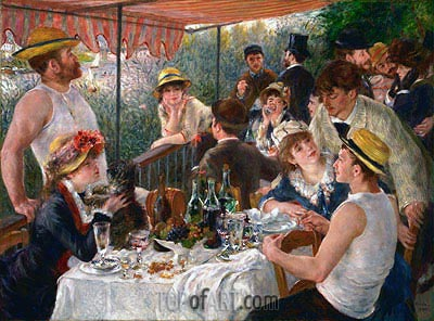 Luncheon of the Boating Party, c.1880/81 | Renoir| Painting Reproduction