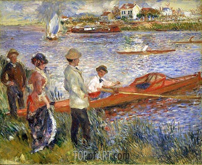 Oarsmen at Chatou, 1879 | Renoir| Painting Reproduction