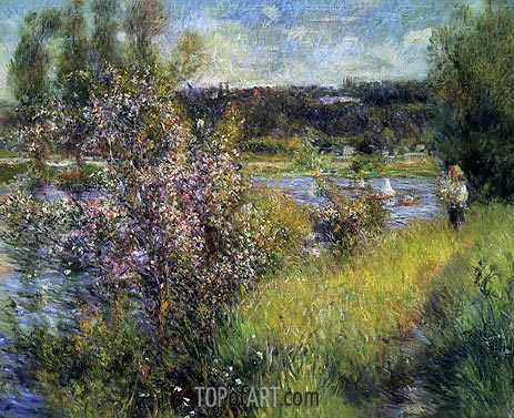 The Saine at Chatou, c.1881 | Renoir | Gemälde Reproduktion