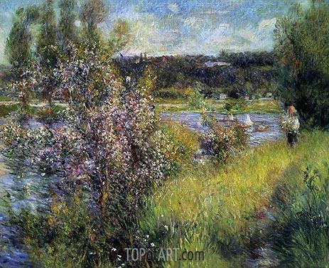 The Saine at Chatou, c.1881 | Renoir | Gemälde Reproduktion