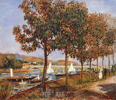 The Bridge at Argenteuil in Autumn, 1882 | Renoir| Painting Reproduction