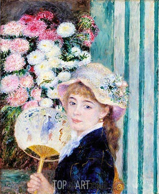 Girl with a Fan, c.1879/80 | Renoir | Painting Reproduction