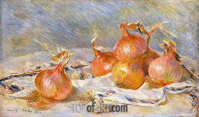 Onions, 1881 | Renoir | Painting Reproduction