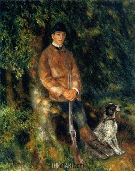 Alfred Berard and His Dog, 1881 | Renoir| Painting Reproduction