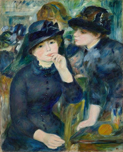 Girls in Black, c.1880/82 | Renoir| Gemälde Reproduktion