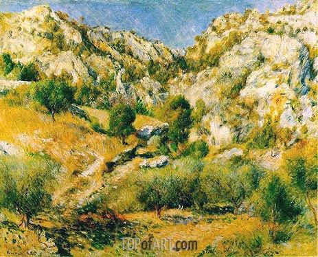 Rocky Craggs at l'Estaque, 1882 | Renoir | Painting Reproduction
