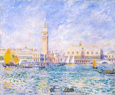 The Doges' Palace, Venice, 1881 | Renoir | Gemälde Reproduktion