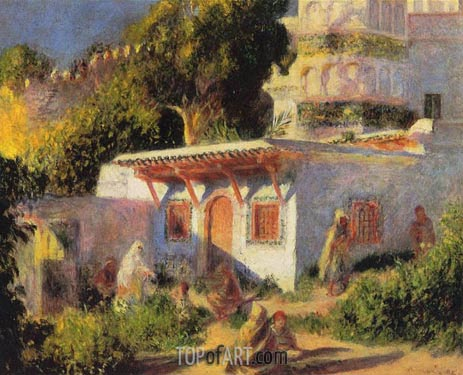 Mosque in Algiers, 1882 | Renoir | Gemälde Reproduktion