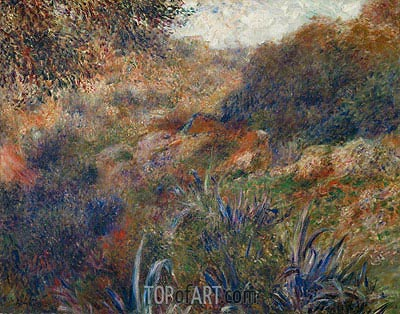 Algerian Landscape (The Ravine of the Wild Women), 1881 | Renoir | Painting Reproduction