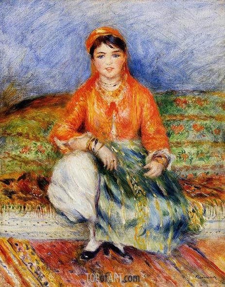 Algerian Girl, 1881 | Renoir| Painting Reproduction