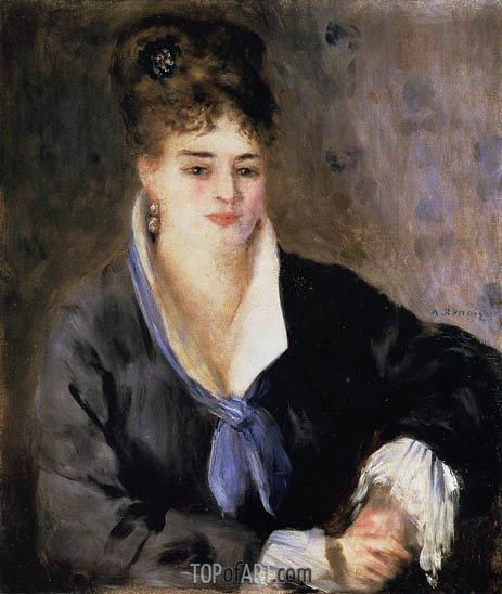 Renoir | Lady in a Black Dress, c.1876