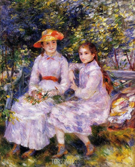 The Daughters of Paul Durand-Ruel, 1882 | Renoir| Gemälde Reproduktion